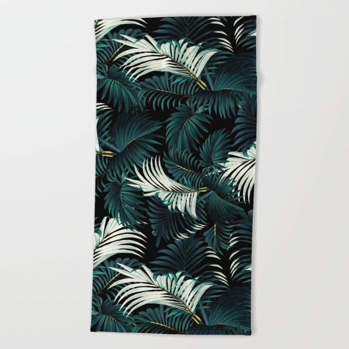 TROPICAL JUNGLE - Night Beach Towel