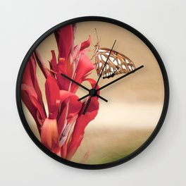 """Gulf Fritillary 2"" by Murray Bolesta! Wall Clock"