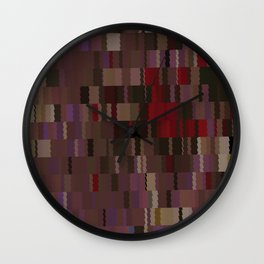 Chocolate and Chillies brown and red Digi fractal Wall Clock