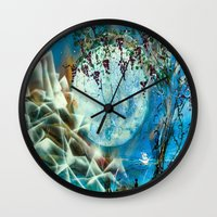 ships Wall Clocks featuring 2 Ships by Angie Stoddard