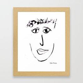 Dylan Thomas Framed Art Print