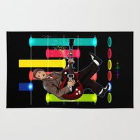 mcfly Area & Throw Rugs featuring Marty McFly plays Guitar Hero by Akyanyme