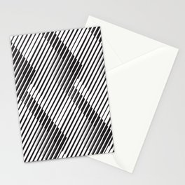 Pattern Play: Abstract Monochrome Chevron Stationery Cards