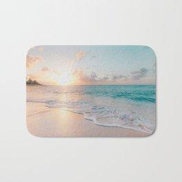 Ocean Wave and Sunset Beach Bath Mat