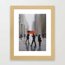 Texting Framed Art Print