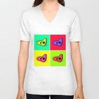 avocado V-neck T-shirts featuring Avocado  by Scout Garbaczewski
