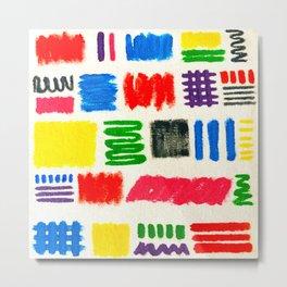 Dribble Scribble Metal Print