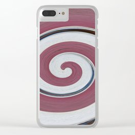 Swirl 06 - Colors of Rust / RostArt Clear iPhone Case