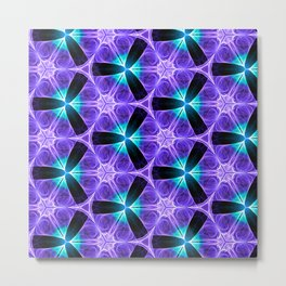 Chainlink Pattern (purple) Metal Print