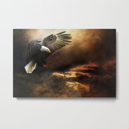 The Eagle Is Landing Metal Print