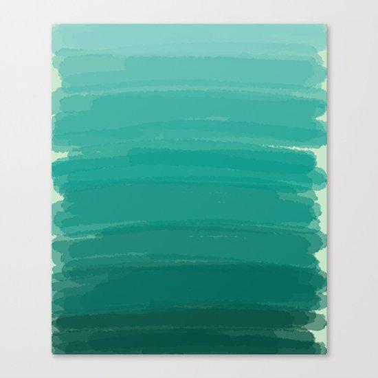 Sea Foam Dream Ombre Canvas Print
