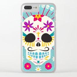 Dios De Los Muertos Day of the Dead Sugar Skull Fiesta Clear iPhone Case