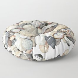 Sea shore of Crete Floor Pillow