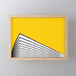 Minimal geometric yellow black modern Framed Mini Art Print