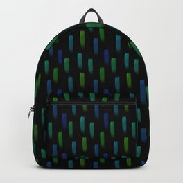Neon Blue and Green Pattern Backpack
