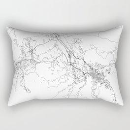 Aspen White Map Rectangular Pillow