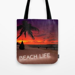 Beach Life Paradise Sunset Tote Bag