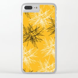 Yellow Squiggles Clear iPhone Case