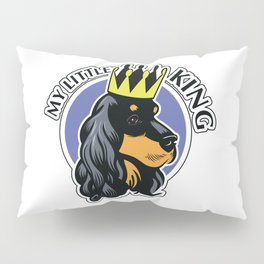 Black and tan cocker spaniel head Pillow Sham