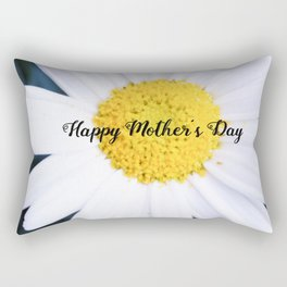 "SMILE ""Happy Mother's Day"" Edition - Daisy Flower #2 Rectangular Pillow"