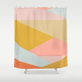 Large Triangle Pattern in Soft Earth Tones Shower Curtain
