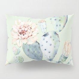 Prettiest Mint Cactus Rose Pillow Sham