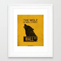 wolf of wall street Framed Art Prints featuring The Wolf of Wall Street by CCL Works