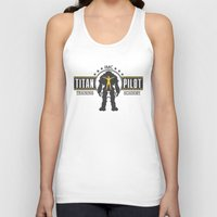 titan Tank Tops featuring Titan Pilot Training Academy by adho1982