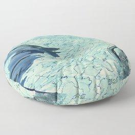 Summertime swimming Floor Pillow