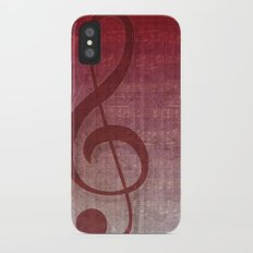 Red Pink Grunge Music Sounds Slim Case iPhone X