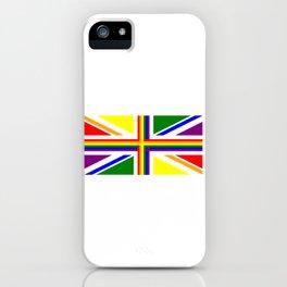 UK Gay Pride Union Jack Flag iPhone Case