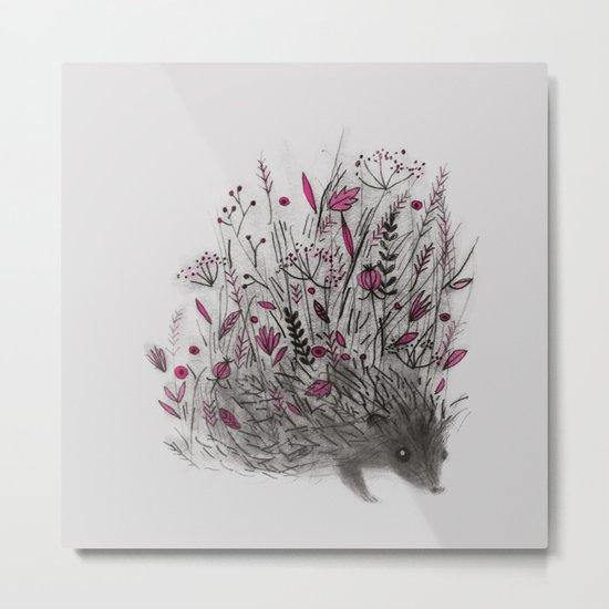 HEDGEHOG (grey) Metal Print