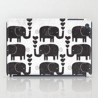 elephants iPad Cases featuring ELEPHANTS by Matthew Taylor Wilson