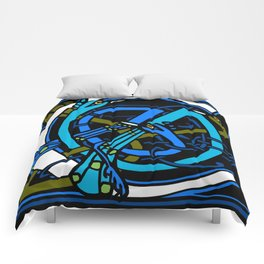 Celtic Peacocks Letter C Comforters