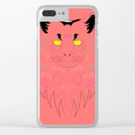 Maine Coon illustration Clear iPhone Case