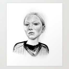 Freckley Art Print