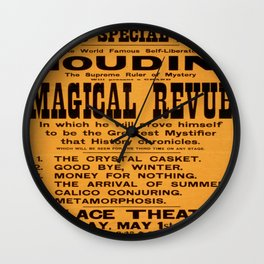 Vintage poster - Houdini Magical Revue Wall Clock