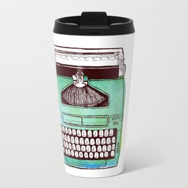 Turquoise retro / vintage typewriter  Travel Mug