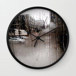 Rain Rain  Wall Clock