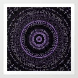Royal Purple Mandala Art Print
