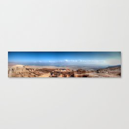 Masada & the Dead Sea Panorama Canvas Print