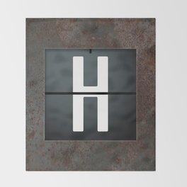 monogram schedule h Throw Blanket