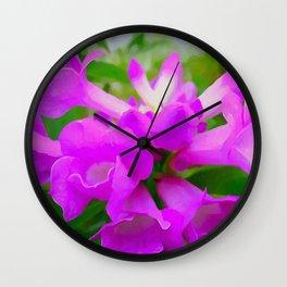 Trumpet Flower 1 Wall Clock