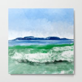 Blue to Emerald Waters Metal Print