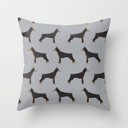 Doberman Pinscher owners gifts home decor art print dog art pet portrait Throw Pillow