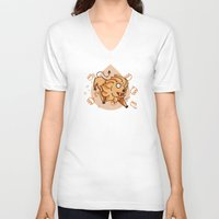 leo V-neck T-shirts featuring Leo by Giuseppe Lentini