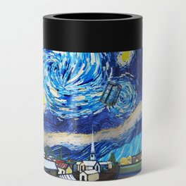 Tardis Art Starry City Night Can Cooler