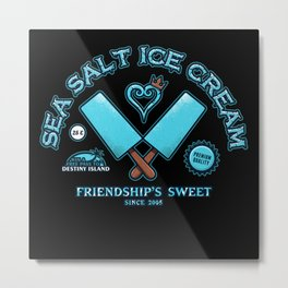 Sea salt ice cream Metal Print