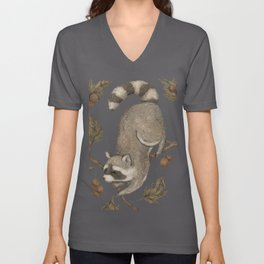 The Raccoon and Sycamore Unisex V-Neck