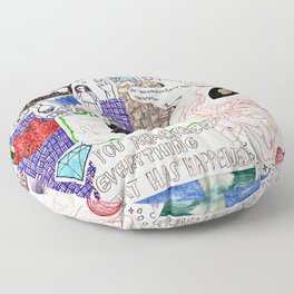 Collage 46 Floor Pillow